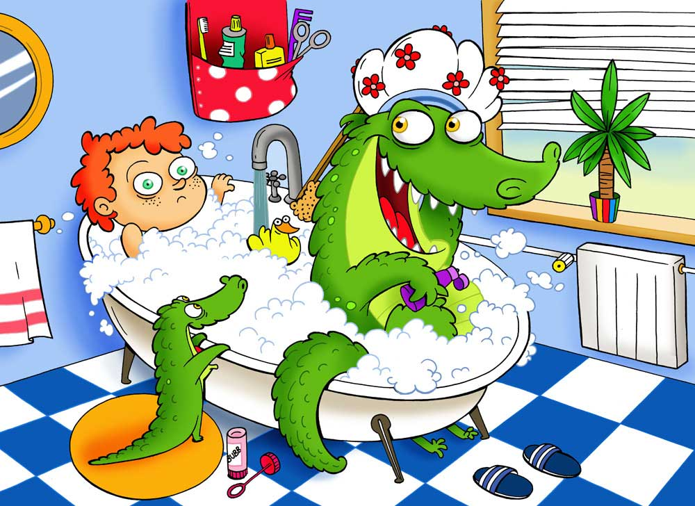 crocodile-bath