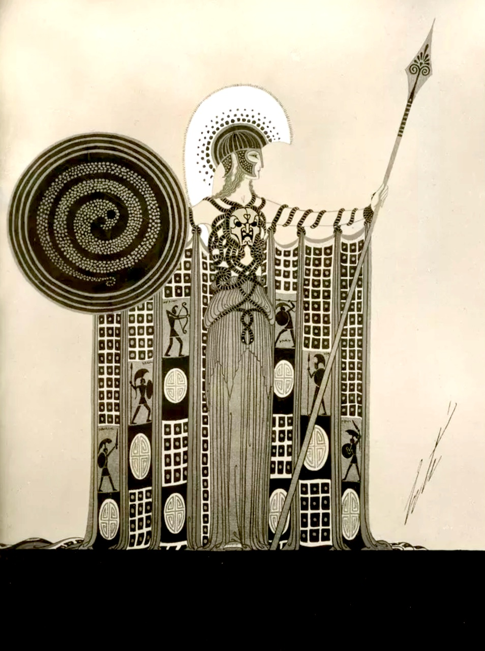 """Athéna"" Art by Erté (1892-1990)"
