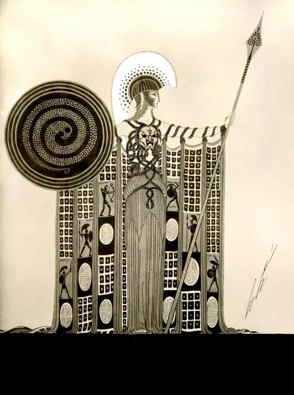 """""""Athéna"""" Art by Erté (1892-1990)"""