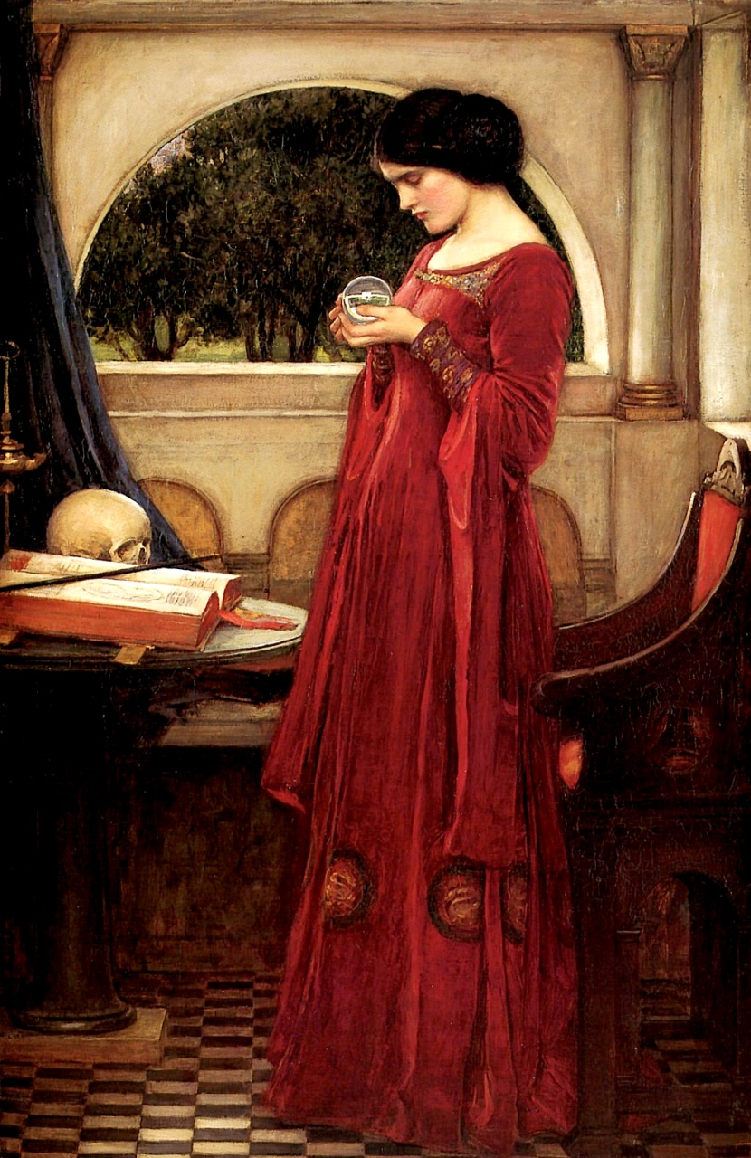 john-william-waterhouse-the-crystal-ball-1902